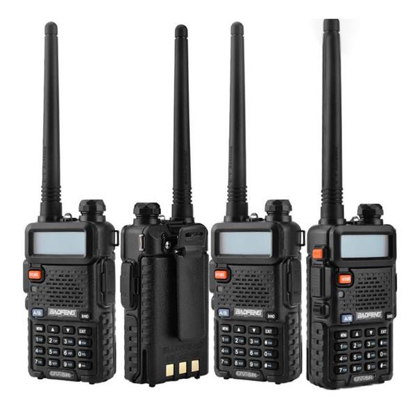BaoFeng UV-5R UV5R Walkie Talkie Çift Bant 136-174 Mhz 400-520 Mhz İki Yönlü Telsiz Alıcı-verici ile 1800 mAH Pil ücretsiz kulaklık