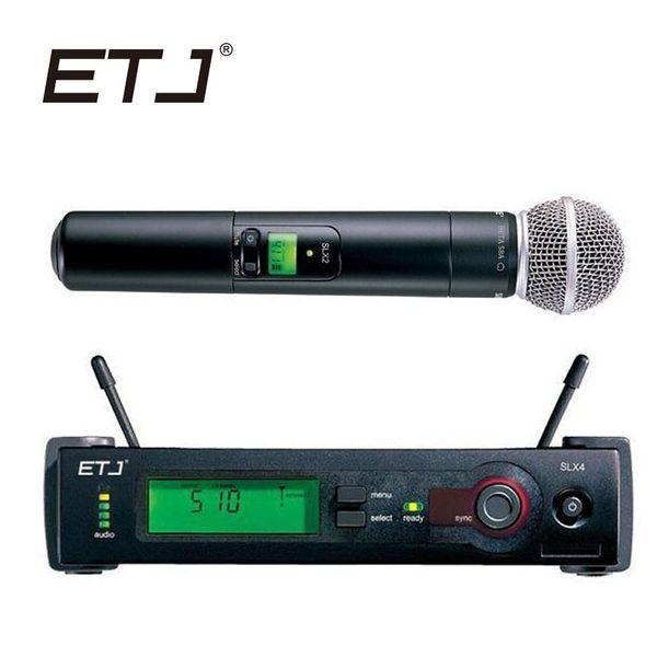 ETJ Marke Professionelles Drahtloses Mikrofon SLX24 / Beta 58 SLX4 Empfänger Handmikrofon UHF Drahtloses Mikrofon Ausgezeichnetes Modell