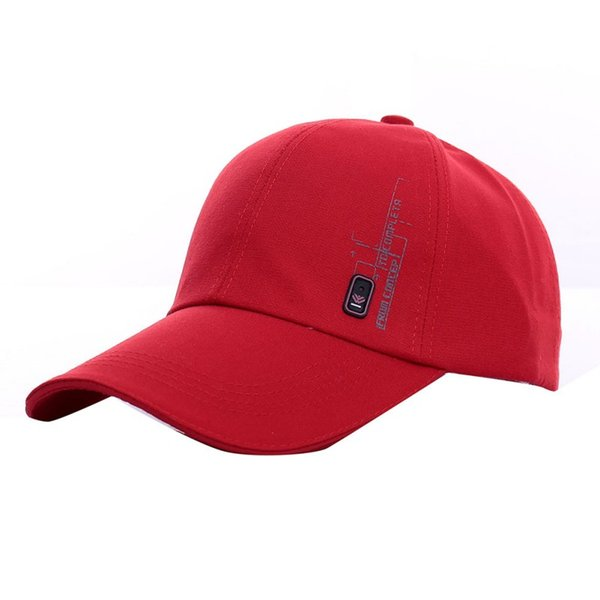 Men's Casual Summer Visor Hat Women Tide Cotton Snapback Solid Adjustable Caps Side Marking Badge Outdoor Sun Cap 7472