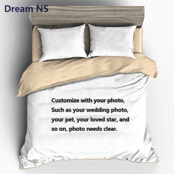 AHSNME Custom Made Bedding Set Your Photo Customized Design Duvet Cover Sets King Queen Twin Size Custom Dropshipping