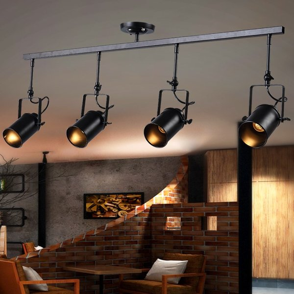 vintage 1/2/3/4/head ceiling lamp Loft Ceiling Light creative loft led lamp cloth shop coffee bar light clothing