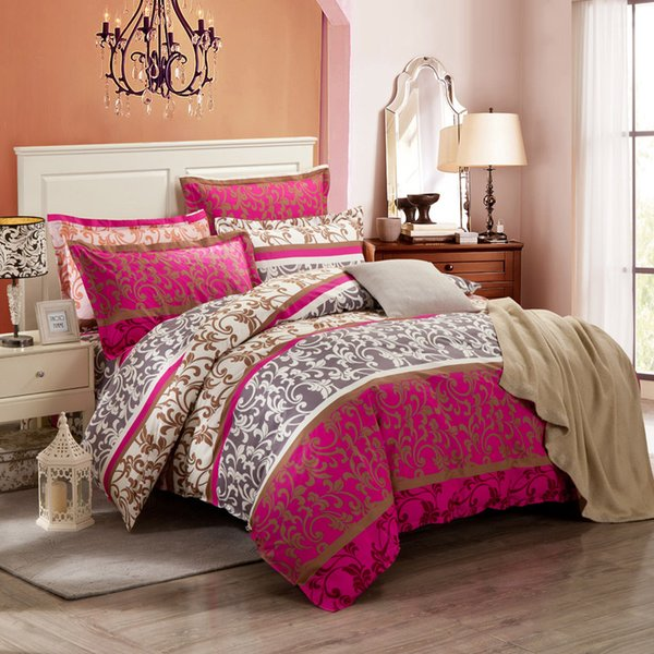 Hot sale Printed Country Style bedding set 4pcsqueen/king duvet cover pillowcase bedsheet Home Textiles