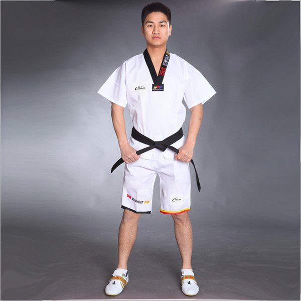 best selling Wholesale Cotton Breathable Junior Taekwondo Dobok Child Girls and Boys WTF Approve Karate Uniform Suit Training Clothes