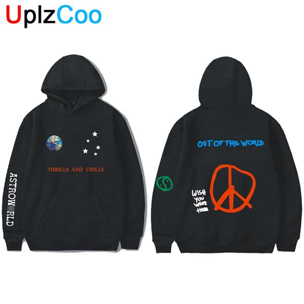 UplzCoo Astroworld Hoodies Primavera Outono Streetwear Pullover Travis Scotts Homens Jovens Mulheres FashionHip Hop Impressão Hoodies OA125