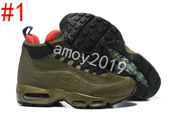 newest 3e8fd d9bff 2018 New Men Sports 95 Running Shoes Black Green Comfort Fashion Athletic  Walking Training 95s Mens Trainers Shoes Sneakers Size 40 46 Good Running  ...