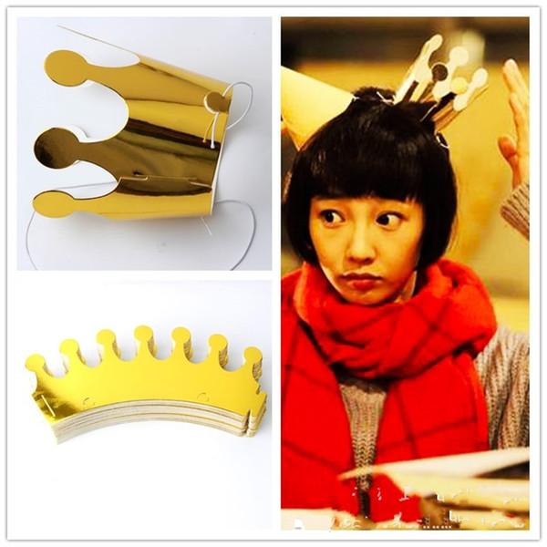 Party Mini Vergolden Festliche Kopfbedeckungen Goldene Krone Einfache und frische Geburtstag Hut Decor Festliche Lieferungen Accessorie Kopf Ornamente 3bx jj