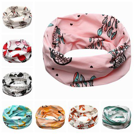 EMS free fashion kids scarf INS cotton scarves unisex girls boys animal geometric neckerchief mufflers baby accessories toddler neck warmer