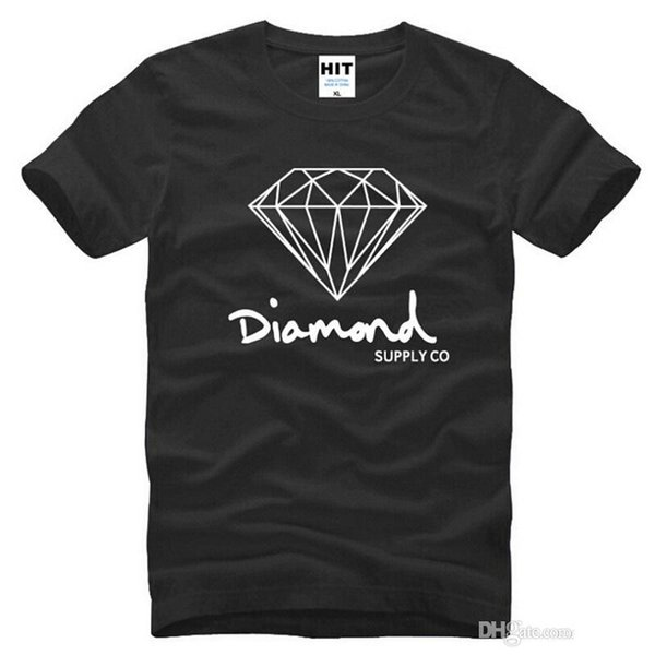 New Summer Cotton Mens T Shirts Fashion Short-sleeve Printed Diamond Supply Co Male Tops Tees Skate Brand Hip Hop Sport Clothes
