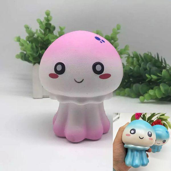 Jumbo Squishy Wholesale Jellyfish Simulated Marine Life 11CM Slow Rebound Kawaii Squishies Cute Kids Gift Toys STY042
