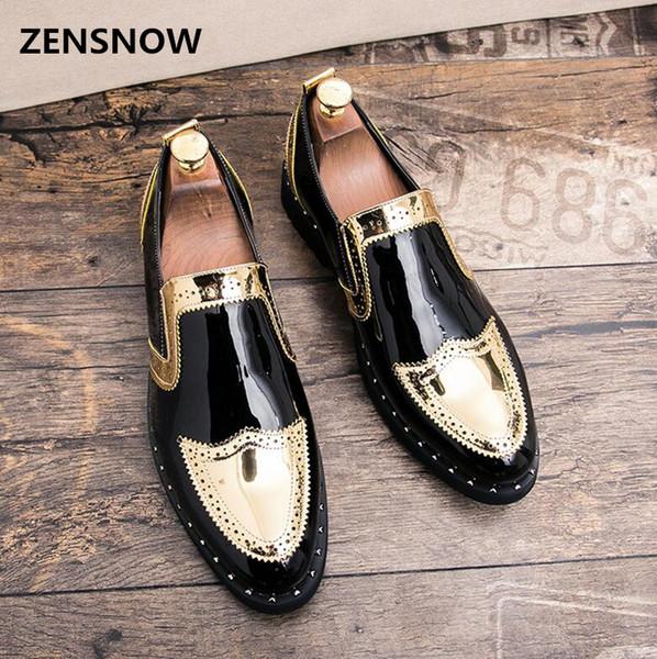 Chaussures en cuir pour hommes classiques 2018 nouvelles chaussures d'affaires de style jeune cheveux styliste tendance tendance de l'édition coréenne.