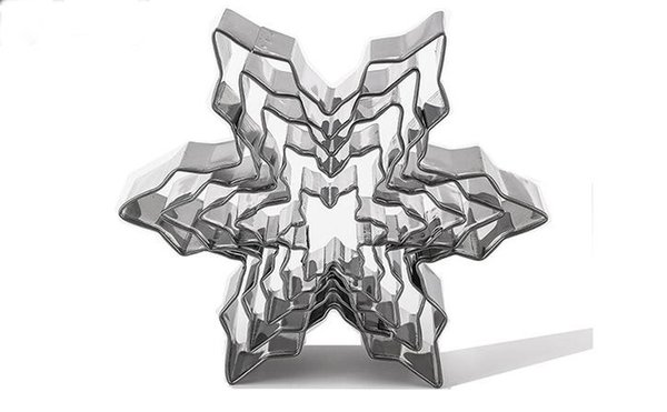 5pcs Snowflake Shape Cookie Cutter Stainless Steel Snow Form Cookie Mold DIY Fondant Chocolate cake Decoration Molds