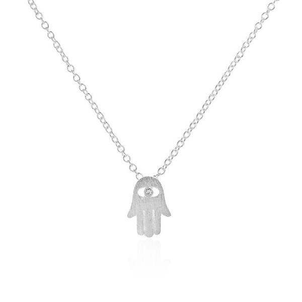 Luck Hamsa Hand Pendants Necklace Fatima Hand Palm Statement Necklaces For Women Clavicle Collares Bijoux HOT Sellingjl-228