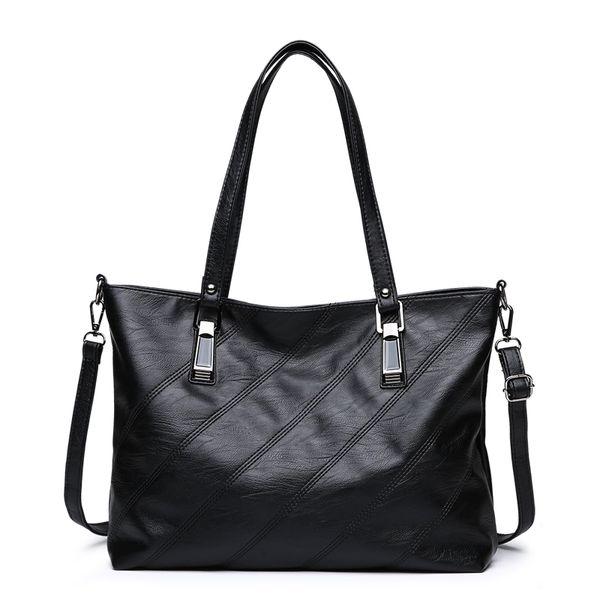 2018 New Women Bag Striped Textured Hardware Back Zip Pocket Female Messenger Bags Casual Female Handbags Bolsos Mujer