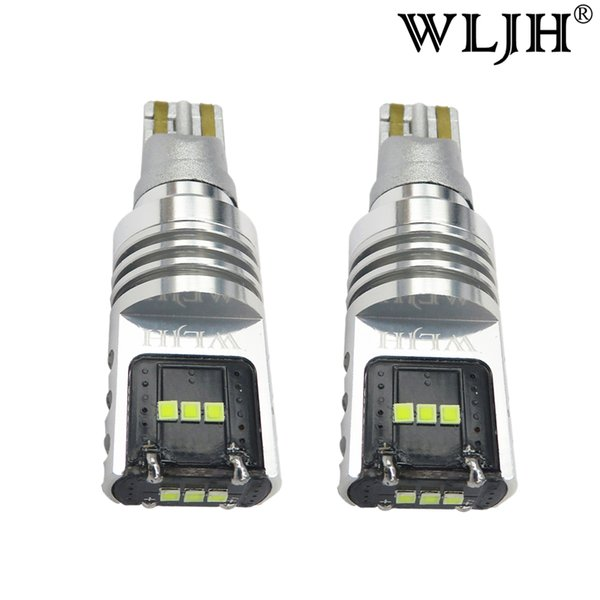 WLJH 1000Lm W16W T15 LED 921 Bulb Backup Light LED Bulb Car Tail Turn Signal Parking Reverse lamp AC 9V- 30V
