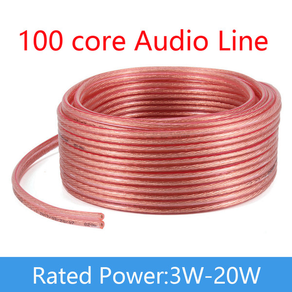100 Core Loud Speaker Cable Pure Oxygen-Free Copper 2*50 Wires/Core DIY Audio Cable For Amplifier Company School Drop Shipping