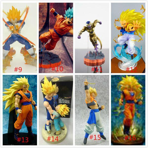 Dragon Ball Z Vegeta Trunks Goku Gohan cellulaire Freezer Figures DRAMATIQUE VITRINE action PVC Modèle Toy Doll Figuras