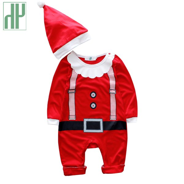 HH christmas Baby rompers costumes for boys santa claus baby outfits baby girl clothes newborn new year jumpsuit wear overalls Y18102907
