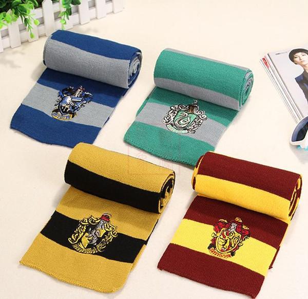 Harry Potter Mode Winter Schals Winter Schule Unisex Gestreiften Schal Gryffindor Cosplay Kostüm Schals Weihnachten Schals Geschenk