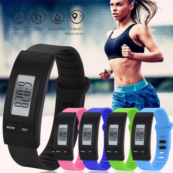 Run Step Watch Bracelet Pedometer Calorie Counter Digital LCD Walking Distance F811