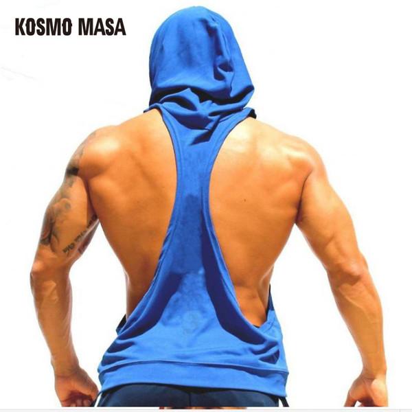 KOSMO MASA 2017 Crâne ZYZZ Golds Bodybuilding Stringer Hoodies Stringer Hommes Hoodie Fitness Débardeur Shark Golds Vêtements MC0110