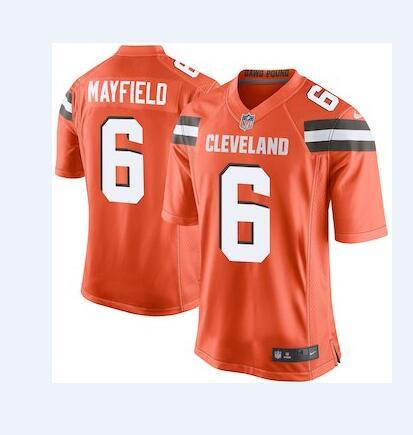 cheap for discount 0b8fd 1361f 2018 6 Baker Mayfield Jersey Cleveland Browns Denzel Ward Carlos Hyde  Custom Authentic Elite American Football Jerseys Women Mens Youth Kids 4XL  From ...