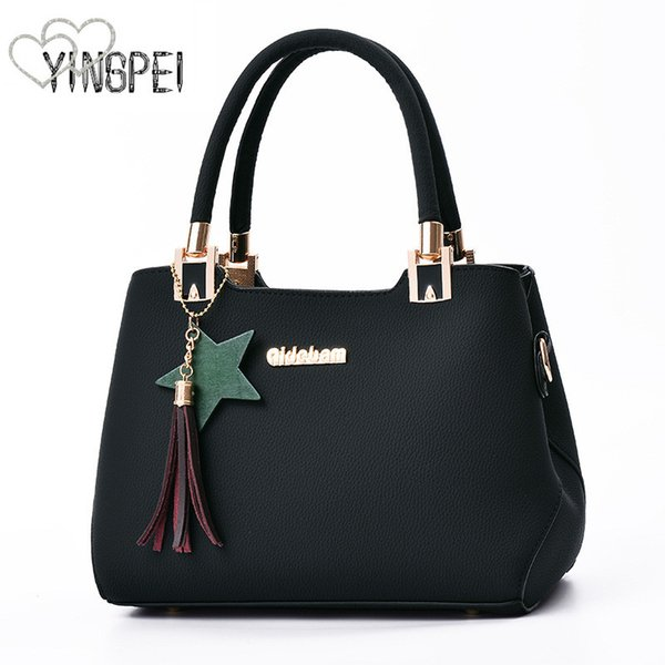 Women Bag Designer New Fashion Casual women's handbags Luxury shoulder bag quality PU Brand tassel Korean Style Large capacity