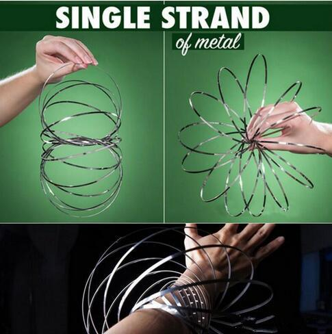 best selling 2018 Toroflux Amazing Flow toy Torofluxus Flow Rings Metal Toys magic ring game Kinetic Spring Funny Flowrings Outdoor Decompression toys