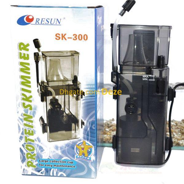 best selling Resun SK-300 3.5W 300L H Hang on Back Protein Skimmer For 95L Nano Marine Coral Quarantine Salt Water Tank Pumps