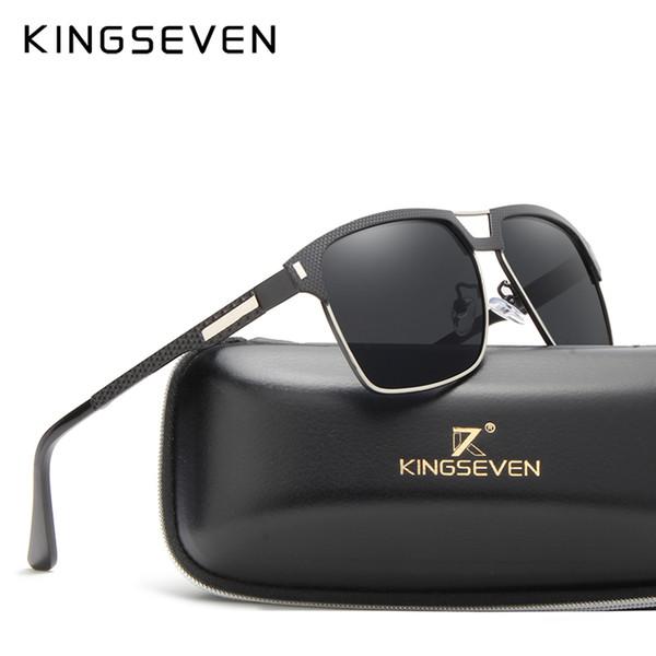 Kingseven ALLUMINIO HD polarizzata Aviation Occhiali da sole donne uomini guidare