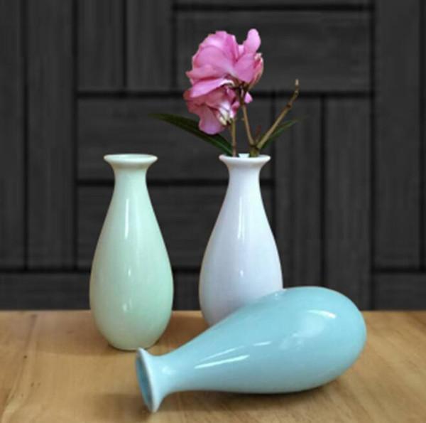 Keramik Vasen aromatherapie flasche handwerk vase blume kreative Europäische boutique angebote dekoration schmuck mini trompete GGA688 30 stücke