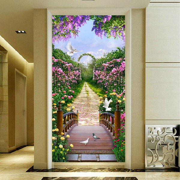 Lan Diamonds Picture New Pattern Flower Avenue Fully-jewelled Cross Embroidery Paste A Living Room Hallway Decoration Painting