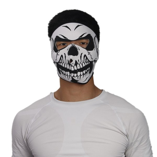 Halloween Full Face Mask Sport all'aria aperta Bicicletta Ciclismo Skateboard Moto Skull Ghost Sci Equitazione Cappello Balaclava Proteggi