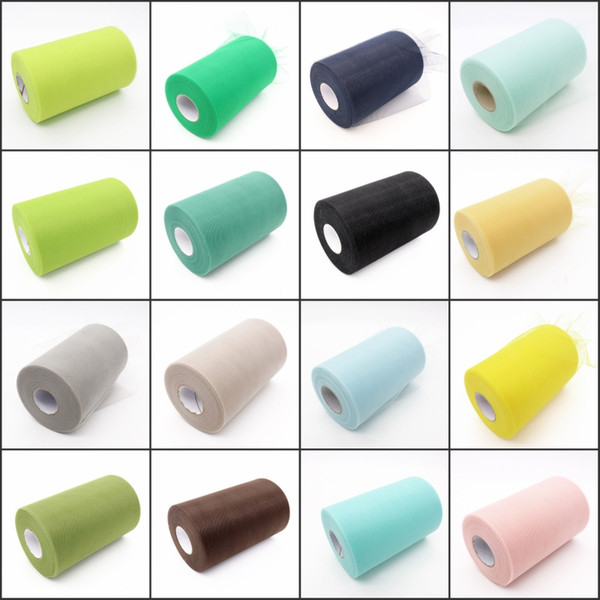 30color Organza Roll Tulle Sheer Fabric For Diy Wedding Party Chair Sash Bow Table Runner Swags Foral Cake Cup Decor