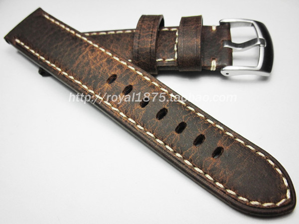2019 new Upscale Strap 20mm 21mm 22mm Handmade Italian Genuine Leather Watch Band Strap Vintage man Watchband for ed watch