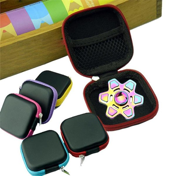 Square Case Protect For Hand Spinner Earphone Storage Box Multi Function Bag Keys Lines Container Fidget Spinners Cases Fashion 1 7gm
