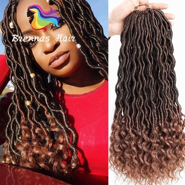 2019 Flawless Ends Perfect Goddess Faux Locs Ombre Two Tone Blonde Golden  Color Braiding Hair Extension Super Locs Freetress Bohemia Styles Curly  From