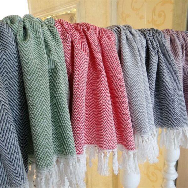 top popular Cotton knit Dish Towel With Hand-made Tassel Napkin Tea Towel Dishtowel Kitchen Towel Cleaning Cloth Multi 2021
