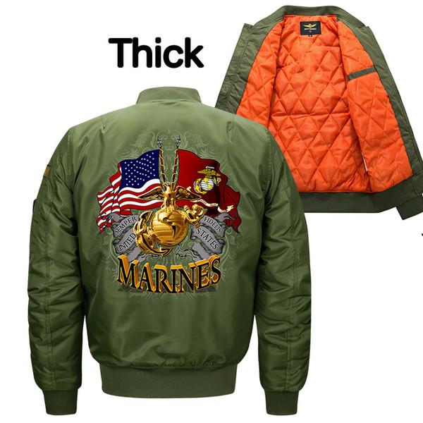 MARINES Mens Jaqueta Bomber Insígnias USAF Kanye West Hip Hop Masculino Blusão Jaqueta de Esporte Bandeira Dos Homens jaqueta de algodão seção 8XL