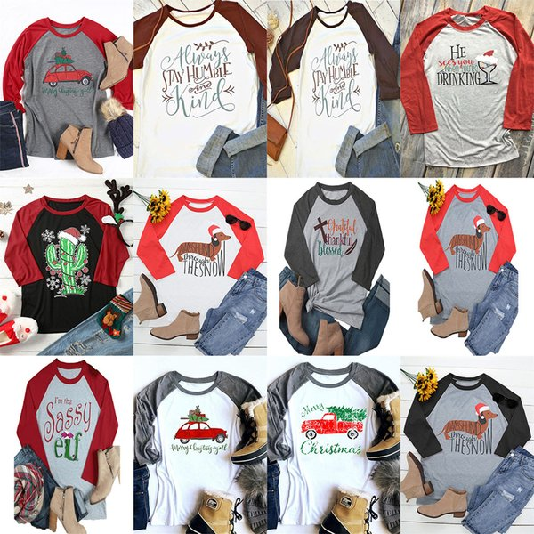 Maternity Christmas Shirt.2019 Women Christmas T Shirt Women Casual Letter Printed Long Sleeve Shirt 2018 Autumn Xmas Tee Maternity Tops 12 Styles Dhl C4747 From Hltrading