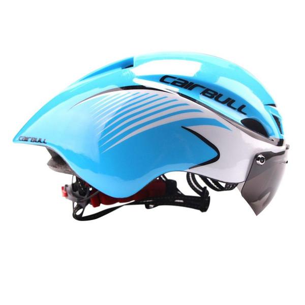 Cool Bike Helmets For Adults Men Cycle Mountain Biking Helmets Sale With Goggles Road Bike Blue Pink