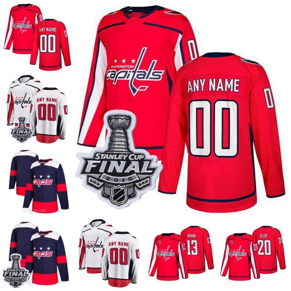 new product 68984 cc887 2019 Custom 2018 Stanley Cup Washington Capitals Hockey Personalized Any  Number Name Stitched Men Women Youth Customized Caps Ovechkin Oshie From ...