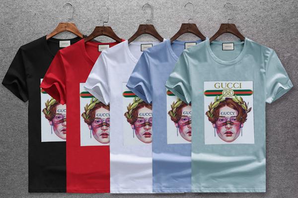 Marka Tasarımcısı - Kısa kollu merserize pamuk, erkek kısa kollu, T-shirt, yuvarlak yakalı, rahat erkek pamuklu baskılı T-shirt. -30