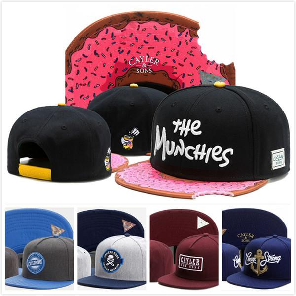 Erkek HIP HOP WEEZY CAYLER SONS MUNCHIES Caps Snapback Markalar Şapka bboy kadın Kap Ayarlanabilir Spor Beyzbol yendi çocuk Şapkalar