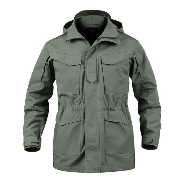 M65 Waterproof Pilot Jackets Men Windbreaker Camouflage Tactical Field Jacket Male Hooded Pocket Army Coat Male Clothes
