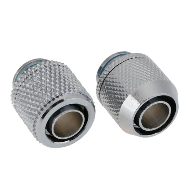 G1/4 External Fitting Thread point flat double pagoda Soft Tube Connector for 9.5 X 12.7 mm PC Water Cooling System Tube