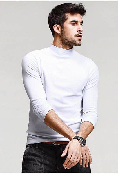 Mens Casual T Shirts 5 Solid Color Brand Clothing for Men Long Sleeve Slim T Shirts Male Wear Plus Size Tops Tees