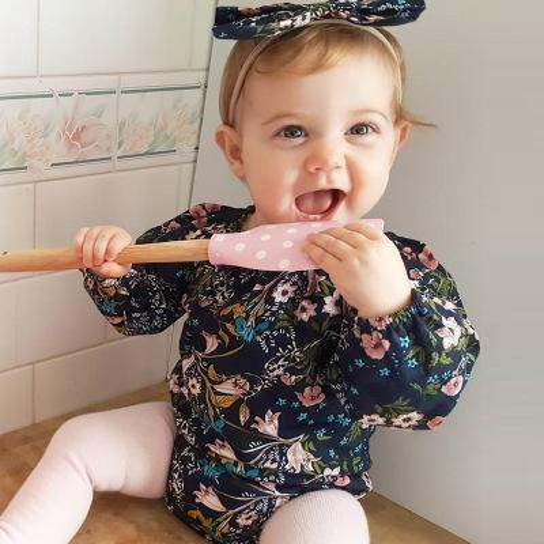 2018 Newborn Baby Girls Romper Infant Toddlers Spring Broken Flower Jumpsuit Bodysuit Playsuit