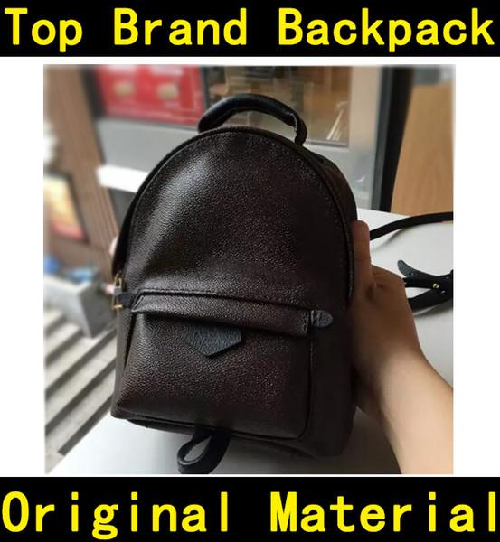Designer sac à dos de haute qualité d'impression de fleurs de luxe célèbres marques en cuir véritable sacs à main enfants enfants sacs à dos sac d'école