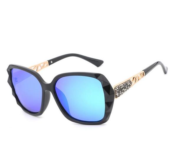 Alta calidad Señora Gafas con caja HDCRAFTER Diseño Gafas de sol de gran tamaño Mujeres Gafas de sol polarizadas Mujer Prismatic Eyewear A620