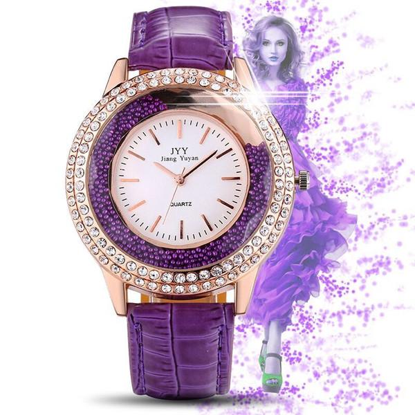 New design Luxury Women watch Rose gold noble female quartz Steel Bracelet Chain Dress Watch with diamond Japan Movement drop shipping